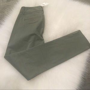 New J Crew Crop Pants Frankie style olive green
